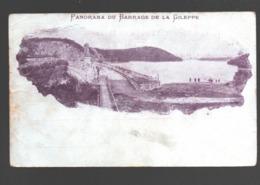 Gileppe - Panorama Du Barrage De La Gileppe - Dos Simple - Couleur Mauve - Gileppe (Barrage)