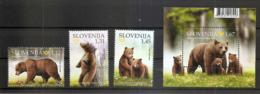 SLOVENIA  2019,FAUNA,BROWN BEER,BRUNBAR,BLOCK,MNH - Slowenien