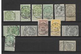 België Wapenschilden Verschillende Stempels Waaronder Betere - 1893-1907 Wappen
