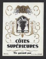 Etiquette De Vin  -  Côtes Supérieurs   - Thème Porteurs Grappe De Raisin  - - Other