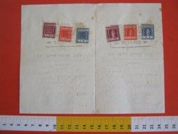 GCB ITALIA REP. 1954 MARCA FISCALE CONTRATTI BORSA 4 + 20 + 50 LIRE SU FISSATO BOLLATO 1 LIRA PARTE DESTRA SINISTRA UNIT - 6. 1946-.. Republic