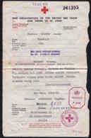 MILITARIA BRIXHAM MESSAGE CROIX ROUGE RED CROSS LETTRE COVER 1943 TO BRUGGE ( BRUGES ) DIVERS TAMPON - CENSURE - Documentos Históricos