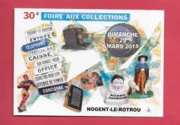 28 NOGENT LE ROTROU ..30 ème Foire Aux Collections. Papillon,voiture. - Nogent Le Rotrou