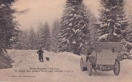BOURG ARGENTAL      ENVIRONS         LE GRAND BOIS PENDANT L HIVER 1905.    AUTO DANS LA NEIGE - Bourg Argental