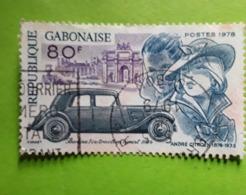 GABON 1978, Centenaire Du Constructeur Automobile André CITROEN ,Auto Traction Avant Yvert No 394  Obl TB - Voitures
