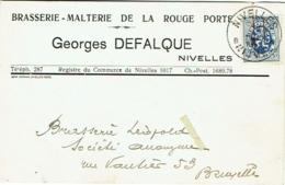 Nivelles. Brasserie-Malterie De La Porte Rouge. Georges Defalque. - Nivelles
