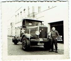 Foto/Photo. Camion.Transport De Bière. White Star. Brasserie Léopold, Bruxelles. - Automobiles