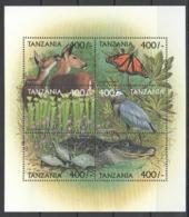 W328 TANZANIA FLORA & FAUNA ANIMALS BIRDS BUTTERFLIES REPTILES 1KB MNH - Stamps