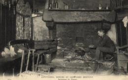 Bretagne  - Coutumes, Moeurs Et Costumes Bretons - Intérieur De Ferme - C 9441 - Bretagne