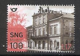 SLOVENIA  2019,100 YEARS OF THE SLOVENIAN NATIONAL THEATRE MARIBOR,MNH - Slowenien