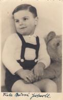 Child W Teddy Bear Real Photo Postcard - Jeux Et Jouets