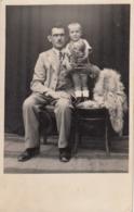 Child W Teddy Bear Real Photo Postcard 30s - Jeux Et Jouets