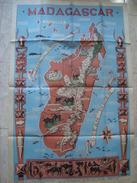 MADAGASCAR - MINISTÈRE DE LA FRANCE D'OUTREMER. POSTER / AFFICHE BY LÉO CRASTE. VERY GOOD CONDITION. 120 CM. - Posters
