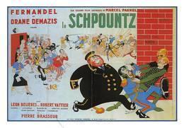 Dubout Fernandel Pagnol Le Schpountz - Affiches Sur Carte