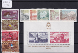 Liechtenstein 1972, Olympiade München, LIBA '72, Landschaften  (B.2529) - Unused Stamps
