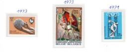 SPORT - OLYMPIC GAMES - 1971/73 - BELGIO  -  Mi. Nr.  1642+1719+1726 - NH - (6532-51) - Belgio