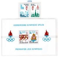 SPORT - OLYMPIC GAMES - 1978 - BELGIO  -  Mi. Nr.  1965/1966 + BF 47 - NH - (6532-52) - Belgio