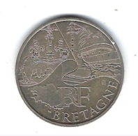 Monnaie, France, Euro, 10 Euros Argent ( Bretagne ) - France