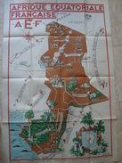 AEF. AFRIQUE ÉQUATORIALE FRANÇAISE - MINISTÈRE DE LA FRANCE D'OUTRE-MER, 1950 POSTER BY LÉO CRASTE. 120 CM. - Posters