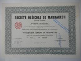 OLEICOLE De MARRAKECH (Famille Israel )         MAROC 1972    JAMAIS VU EN FRANCE - Mines