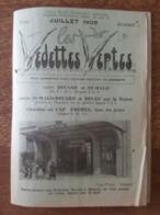 Horaires & Tarifs Juillet 1939 - Vedettes Vertes Dinard, Saint Malo, Dinan, Cap Fréhel - Bateau Solidor Fée Des Greves - Europe