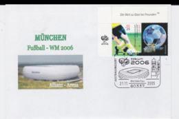 Germany Cover 2006 FIFA World Cup Football In Germany - Mücnehn Allianz-Arena Posted München 2005   (G99-47) - Coppa Del Mondo