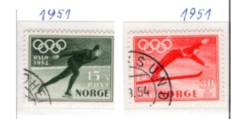 SPORT - OLYMPIC GAMES - 1951 - NORVEGIA  -  Mi. Nr.  372/373 - USED - (6532-51) - Norvegia