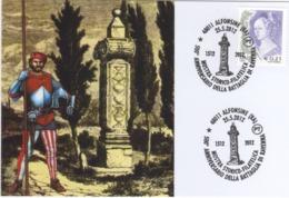 Italia 2012 Alfonsine (RA) 500° Anniversario Della Battaglia Di Ravenna Annullo Cartolina - Storia