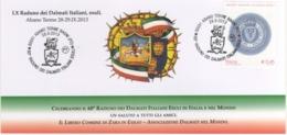 Italia 2013 Abano Terme Bagni (PD) 60° Raduno Dei Dalmati Italiani Esuli Annullo Cartolina - Seconda Guerra Mondiale