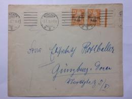 GERMANY 1920 Bavaria Cover Munchen To Gunzburg - Bayern