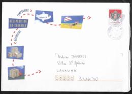 Monaco .Entier Enveloppe De Réexpédition Du Courrirer . Oblitérée Monté - Carlo 2015 - Postal Stationery