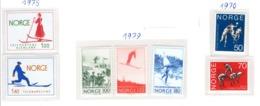 SPORT - OLYMPIC GAMES - 1970/79 - NORVEGIA  -  Mi. Nr.  617/618+790/792+695/696 - NH - (6532-52) - Norvegia