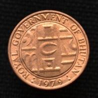Bhutan 5 Chhertum 1979, Km45, BU, Buddhist Instruments. 17.1mm. - Bhutan