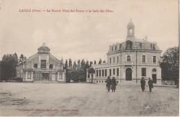F11- 61) LAIGLE (ORNE) LE NOUVEL HOTEL DES POSTES ET LA SALLE  DES FETES - (2 SCANS) - L'Aigle
