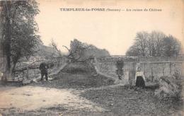 ¤¤  -   TEMPLEUX-la-FOSSE    -  Les Ruines Du Chateau    -   ¤¤ - Francia