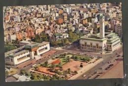CPSM. Maroc. Casablanca. Municipalité, Palais De Justice Et  Statue Lyautey. Photo Véritable. Cachets Flamme Timbre. - Monuments
