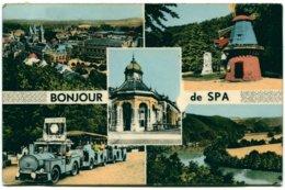 Belgique - Spa - Bonjour De Spa - Multivues - Colorisée - Articolor Nº 25 - Ecrite, Timbrée - 6408 - Spa
