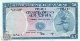 TIMOR 50 ESCUDOS 1967 PICK 27a UNC - Timor