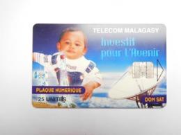 Télécarte Magagascar , Malagasy , Dom Sat - Madagascar