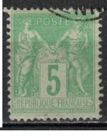 FRANCE            N°  YVERT    106  ( 1 )    OBLITERE       ( SD ) - 1876-1898 Sage (Type II)
