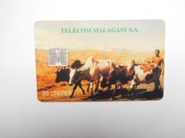Télécarte Magagascar , Malagasy , Zébu , Bœuf - Madagascar