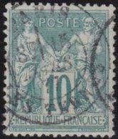 France  .   Yvert   .     76  (2 Scans)         .     O          .       Oblitéré - 1876-1898 Sage (Type II)