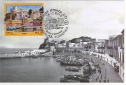 Italia 2013 Ponza (LT) Località Turistica Annullo FDC Su Cartolina Maximum - Geografia