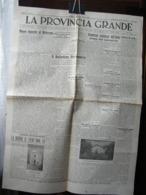 (G4) QUOTIDIANO LA PROVINCIA GRANDE, CUNEO, LA MORRA, ANNO 3 N° 32 LUNEDI 25 OTTOBRE 1943 - Riviste & Giornali
