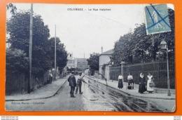 CPA - COLOMBES - La Rue Halphen (animée: Personnages) - Colombes