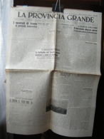 (G5) QUOTIDIANO LA PROVINCIA GRANDE, CUNEO, LA MORRA, ANNO 1 N° 34 SABATO 23 OTTOBRE 1943 - Riviste & Giornali