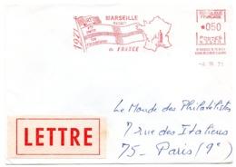 BOUCHES Du RHONE - Dépt N° 13 = MARSEILLE ST FERREOL 1971 = FLAMME ROUGE = EMA = Reçoit Flammistes - Marcophilie (Lettres)