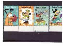 XX2975   -   TURKS & CAICOS ISLANDS  /   CAT.  Y&T.  NR.  445/453 + BF  17   -   SERIE COMPLETA  NUOVA** MNH - Disney