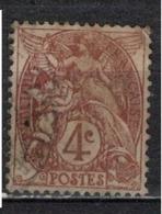 FRANCE            N°  YVERT    108  ( 4 )   OBLITERE       ( SD ) - 1900-29 Blanc