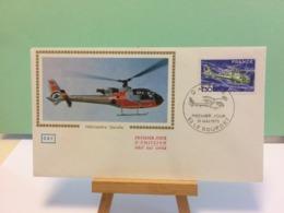 Hélicoptère Gazelle - 93 Le Bourget - 31.5.1975 FDC 1er Jour Coté 4,50€ - 1970-1979